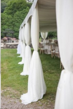 Rental store for Billowy Leg Drape, White Voile in Grand Rapids MI
