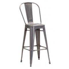 Rental store for Barstool, Elio, With Back, Gun Metal in Grand Rapids MI