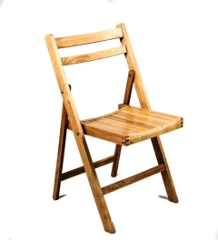 Rental store for Chair, Rustic Wood, Folding in Grand Rapids MI