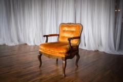 Rental store for Chair, Vintage, Orange Velvet in Grand Rapids MI