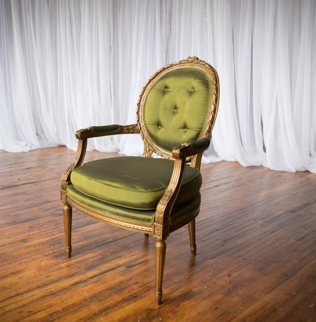 Where to find Chair, Ornate, Green in Grand Rapids