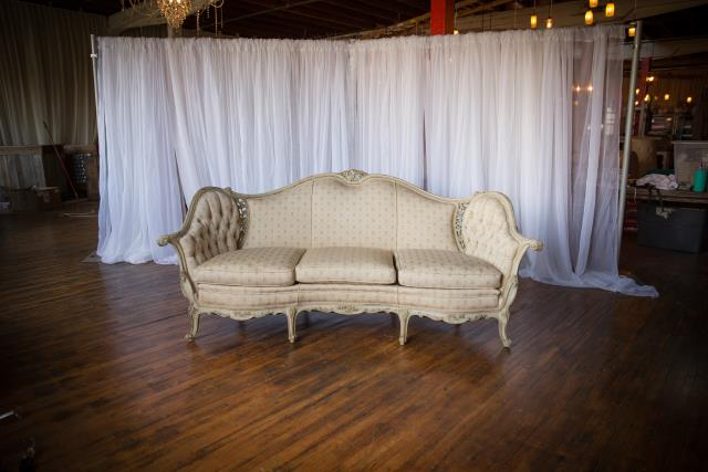 Where to find Settee, Curved, Ivory Floral Pattern in Grand Rapids