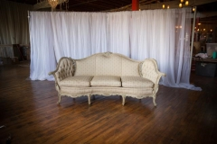 Rental store for Settee, Curved, Ivory Floral Pattern in Grand Rapids MI