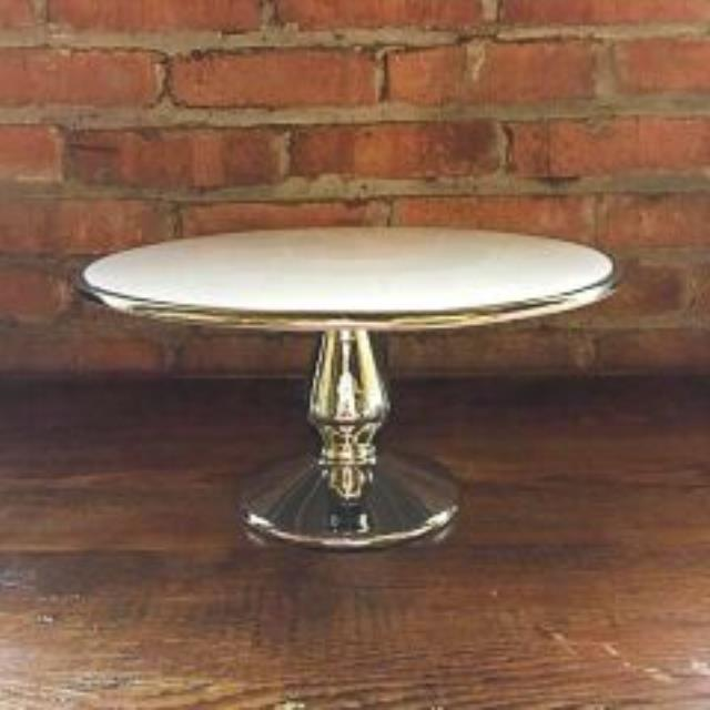 Where to find Cake Stand 13  Stainless White Top in Grand Rapids