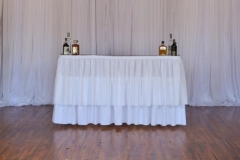 Rental store for Bar, 8  with White linen   skirting in Grand Rapids MI