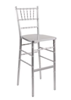 Rental store for Barstool, Chiavari, Silver, w pad in Grand Rapids MI
