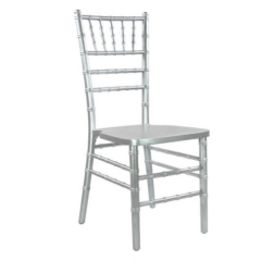 Rental store for Chair, Chiavari, Silver, pad included in Grand Rapids MI