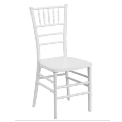 Rental store for Chair, Chiavari, White, pad included in Grand Rapids MI