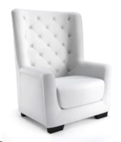 Rental store for Chair, Arm, White Leather Tufted in Grand Rapids MI