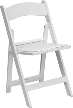 Rental store for Chair, White, Resin, w pad in Grand Rapids MI