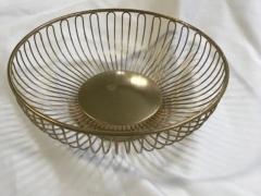 Rental store for Roll Basket, Metal, Gold in Grand Rapids MI