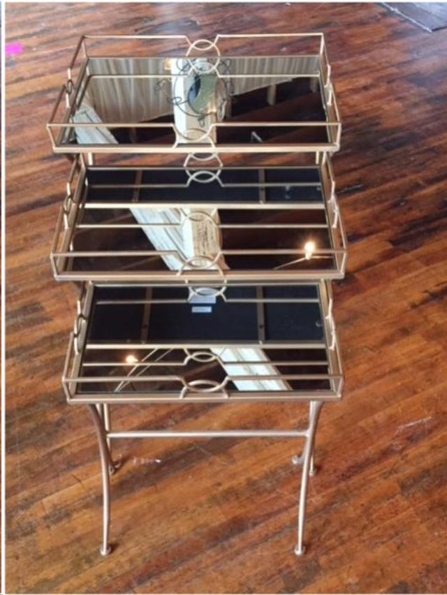 Where to find Table, Nesting, Gold  Mirror in Grand Rapids