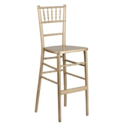 Rental store for Barstool, Chiavari, Gold, w pad in Grand Rapids MI