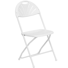 Rental store for Chair, Folding, White, Fan Back in Grand Rapids MI