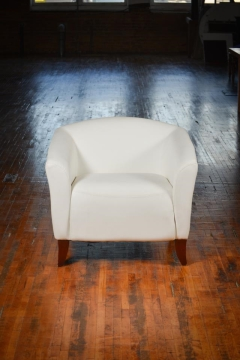 Rental store for Chair, Arm, White Leather in Grand Rapids MI