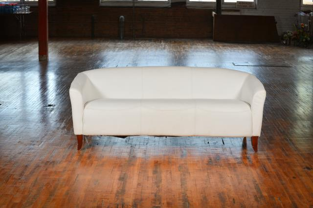 Where to find Couch, White Leather in Grand Rapids
