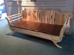 Rental store for Distressed Wooden Couch, 3 Pillows Inclu in Grand Rapids MI