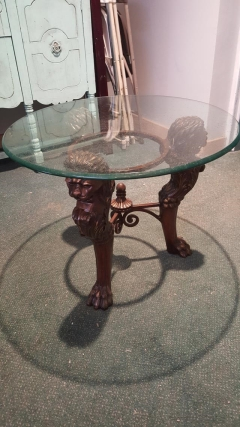 Rental store for Table, End, Lion Face, Glasstop in Grand Rapids MI