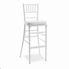Rental store for Barstool, Chiavari, White, w pad in Grand Rapids MI