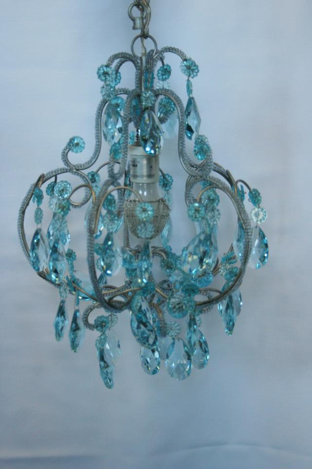 Where to find Chandelier, Blue Crystal in Grand Rapids