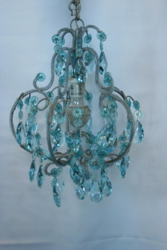 Rental store for Chandelier, Blue Crystal in Grand Rapids MI