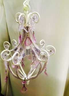 Rental store for Chandelier, Pink, Crystal in Grand Rapids MI