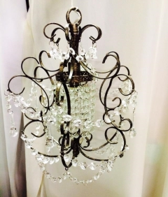 Rental store for Chandelier, Scroll -Crystal   Pewter , S in Grand Rapids MI