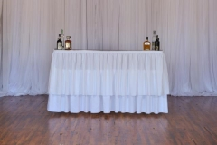 Rental store for Bar, 6  with White linen   skirting in Grand Rapids MI